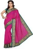 De Marca Solid Fashion Silk Saree (Pink,...
