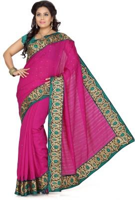 De Marca Solid Fashion Silk Sari