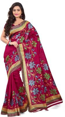 Anglefashion Printed Fashion Art Silk Sari
