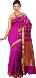 Tusk Printed Kanjivaram Silk Sari (Pink,...
