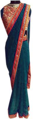 mGm Creation Self Design Fashion Glass Tissue Sari