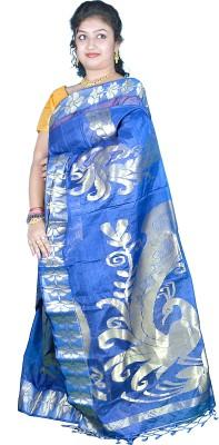 Kakali Self Design Shantipur Handloom Tissue Silk Sari