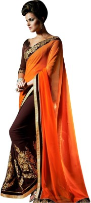 MaxCart Enterprises Embriodered Bollywood Georgette Sari