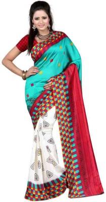fashionfem Printed Fashion Art Silk Sari