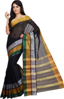 Nilesh Fab Striped Banarasi Handloom Cotton Sari