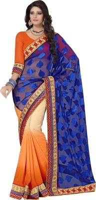 Cutie Pie Printed Fashion Handloom Georgette Sari