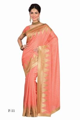 La,ethnic Solid Fashion Handloom Art Silk Sari