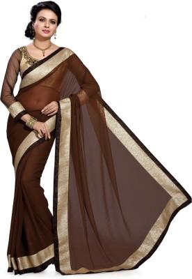 Deepika Saree Solid Bollywood Chiffon Sari