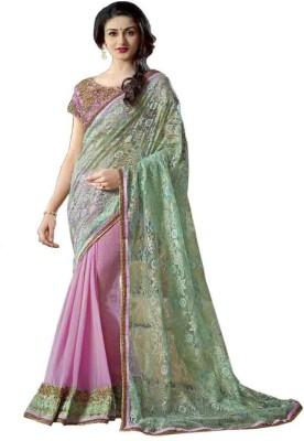 Attireme Plain Fashion Georgette Sari