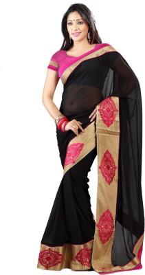 Stylo Designer Self Design Fashion Georgette Sari