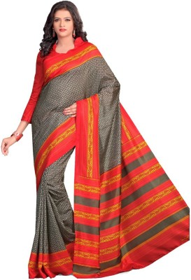 Shree Vaishnavi Printed, Self Design Bollywood Handloom Raw Silk Sari