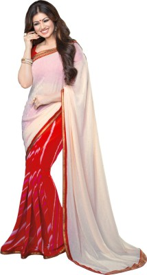 suitebazar Hand Painted Fashion Georgette Sari