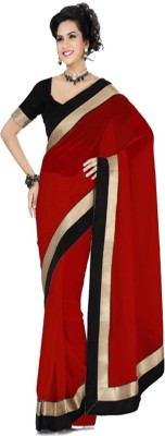 Krishna Ki Leela Solid Fashion Handloom Georgette Sari