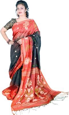 Kakali Self Design Ikkat Handloom Silk Cotton Blend Sari