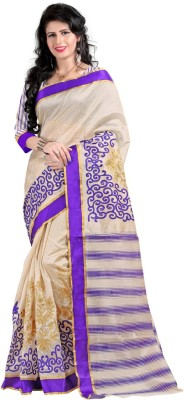 Itmella Printed Assam Silk Cotton Sari