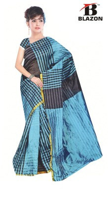 Blazon Striped Bollywood Cotton, Silk Sari