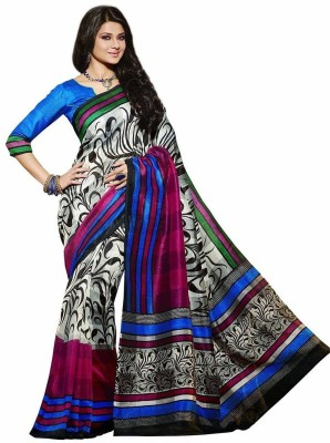 Nityagata Striped Bollywood Art Silk Sari