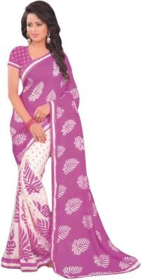 JASHIYA Printed Fashion Crepe Sari
