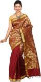 Tusk Printed Kanjivaram Silk Saree (Maro...