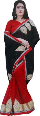 RV Fashions Embriodered Fashion Georgette Sari
