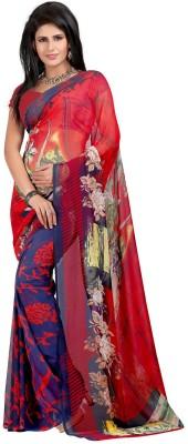 Indian E Fashion Printed, Floral Print Daily Wear Georgette Sari