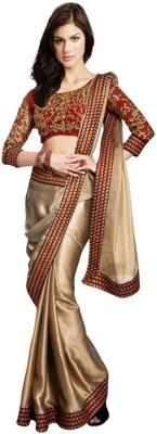 Namo Fashion Printed Fashion Satin Sari