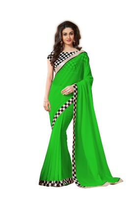 Poonam Saree Self Design Bollywood Chiffon Sari