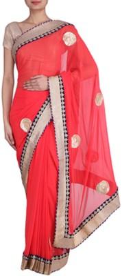 SK Sarees Self Design Fashion Georgette Sari