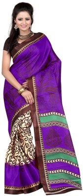 RajSilkCreation Printed Fashion Art Silk Sari