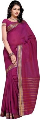 EvaFashion Solid Bollywood Handloom Cotton Linen Blend Sari