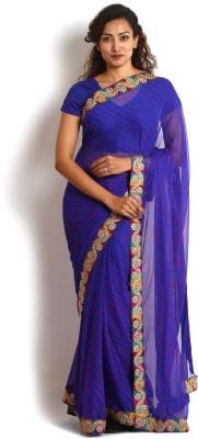 Kasturi-B Swadeshi Karigari Striped Leheria Handloom Georgette Sari