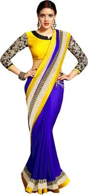 Aanaya Fashions Embriodered Bollywood Satin Sari