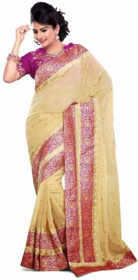 Nairiti Fashions Self Design Bollywood Georgette Sari