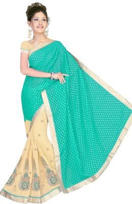 Ranas Fashion74 Embriodered Fashion Chiffon Sari