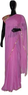 inches Plain Fashion Pure Georgette Sari