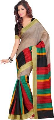 Malgudi Striped, Self Design Fashion Art Silk Sari