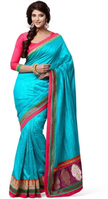 Ethnic For You Plain Daily Wear Silk Sari
