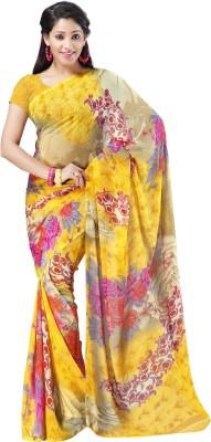 Tanishka Floral Print Bollywood Silk Sari