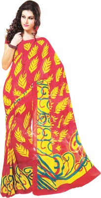 Ladyline Printed Daily Wear Synthetic Sari