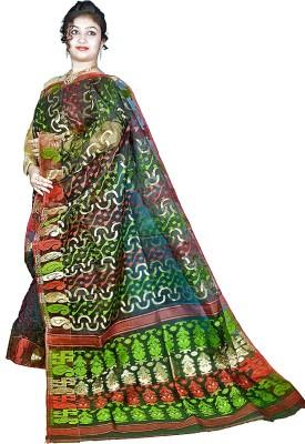 Kakali Self Design Jamdani Handloom Cotton Sari