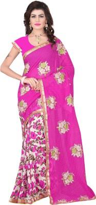 jay ambe fashion Solid Fashion Chiffon Sari