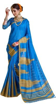 Peecaso Embellished Bollywood Art Silk Sari