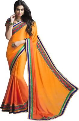 Moh Manthan Self Design Fashion Satin, Chiffon Sari