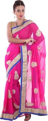 Aumkar Plain Fashion Georgette Sari