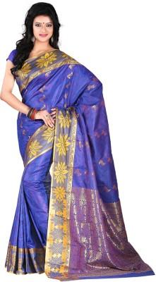 Roopkala Silks Self Design Dharmavaram Art Silk Sari