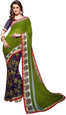 BollyLounge Self Design Fashion Georgette Sari