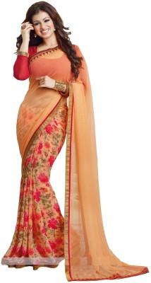 Bombay Velvat Fab Embriodered Fashion Georgette Sari