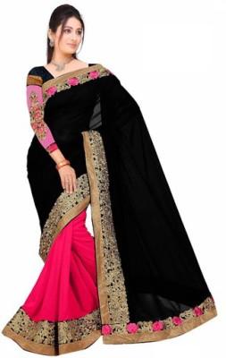 Aanaya Fashions Embriodered Bollywood Georgette Sari