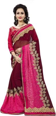 Aashvi Creation Embroidered, Self Design Fashion Georgette Saree(Multicolor) at flipkart