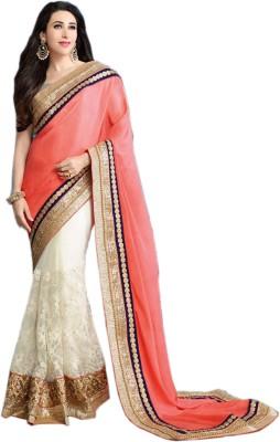 mGm Creation Self Design Bollywood Chiffon, Net Sari